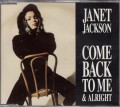 JANET JACKSON Come Back To Me & Alright UK CD5 w/3 Tracks