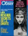 VANESSA PARADIS Le Nouvel Obser (5/13-19/93) FRANCE Magazine