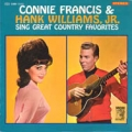 CONNIE FRANCIS & HANK WILLIAMS, JR. Sings Great Country Favorites JAPAN LP