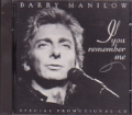 BARRY MANILOW If You Remember Me USA CD5 Promo w/1-Trk