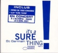 ST GERMAIN It`s a Sure Thing FRANCE Part 2 CD w/VIDEO