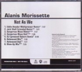 ALANIS MORISSETTE Not As We USA CD5 Promo w/8 Mixes