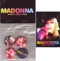 MADONNA Sticky & Sweet Tour USA Set Of Magnet & Buttons