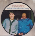 MICHAEL JACKSON/PAUL McCARTNEY The Girl Is Mine UK 7