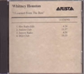WHITNEY HOUSTON I Learned From The Best USA CD5 Promo Test Pressing (11/24/99)