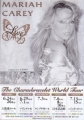 MARIAH CAREY Charmbracelet 2003 JAPAN Tour Flyer