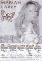MARIAH CAREY Charmbracelet 2003 JAPAN Tour Flyer