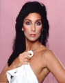 CHER Cher with white cloth USA Photo