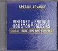 WHITNEY HOUSTON & ENRIQUE IGLESIAS Could I Have This Kiss Forever USA CD5 Promo Only