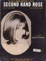 BARBRA STREISAND Second Hand Rose USA Sheet Music