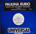 PAULINA RUBIO Don't Say Goodbye USA 12