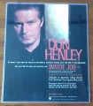 DON HENLEY Inside Job USA Laminated Advance Flyer