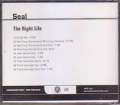 SEAL The Right Life USA CD5 Promo w/9 Mixes