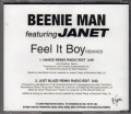 BEENIE MAN feat. JANET JACKSON Feel It Boy USA CD5 Promo w/2 Versions