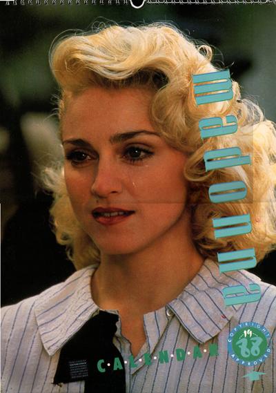 Madonna 1988 Uk Approved Calendar