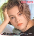 ALYSSA MILANO 1990 JAPAN Set of 6 Calendar Pin-Ups Promo
