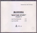 MADONNA Bedtime Story Chapter II USA CD5 Promo w/2 Mixes
