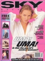 UMA THURMAN Sky (4/96) UK Magazine w/Posters