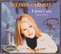 BELINDA CARLISLE I Won't Say FRANCE CD5
