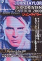 JOHN TAYLOR Terroristen On Tour 2000 JAPAN Promo Tour Flyer