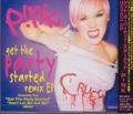 PINK Get The Party Started Remix JAPAN CD5 w/6 Tracks+Videos