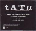 TATU Not Gonna Get Us USA CD5 Acetate Promo w/Pitched Down Mixes