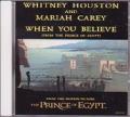 MARIAH CAREY & WHITNEY HOUSTON When You Believe USA CD5 Promo