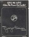 GEORGE HARRISON Give Me Love (Give Me Peace On Earth) USA Sheet Music