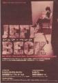 JEFF BECK Japan Tour 99 JAPAN Tour  Promo Flyer