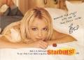 BRITNEY SPEARS Starburst USA Promo Postcard