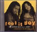 BEENIE MAN Feat. JANET Feel It Boy USA CD5 Promo w/5 Tracks
