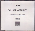 CHER All Or Nothing USA CD5 Test Pressing