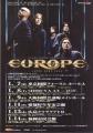 EUROPE Start From The Dark JAPAN 2005 Promo Tour Flyer