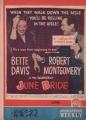 BETTE DAVIS June Bride JAPAN Movie Program