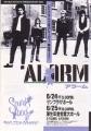 ALARM 1986 JAPAN Tour Flyer