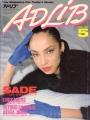 SADE Adlib (5/86) JAPAN Magazine