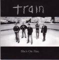 TRAIN She's On Fire (Radio Version) 2 Track UK CD5 Promo