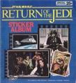 STAR WARS Return Of The Jedi USA Sticker Album
