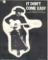 RINGO STARR It Don't Come Easy USA Sheet Music