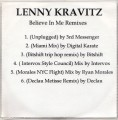 LENNY KRAVITZ Believe In Me Remixes USA CD5 Promo Test Pressing