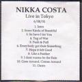 NIKKA COSTA Live In Tokyo USA CD Promo Test Pressing